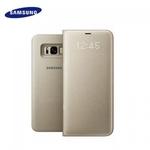Samsung EF-NG955PFE Oriģināls super plāns sāniski atverams LED View maks G955 Galaxy S8 Plus / S8+ Zeltains