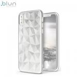Blun 3D Prism Formas Super PlÄ?ns silikona aizmugures maks-apvalks priekÅ? Huawei Mate 10 Lite / Nova 2i / G10 Balts