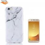 Takeme Marmors akmens TPU Ä«paÅ?i plÄ?ns azimugures maks priekÅ? Samsung J530F Galaxy J5 (2017) Balts