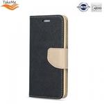 Takeme Fancy Diary Book Case ar stendu Samsung Galaxy J6+ 2018 (J610) sÄ?niski atverams Melns/Zeltains