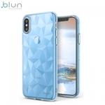 Blun 3D Prism Formas Super PlÄ?ns silikona aizmugures maks-apvalks priekÅ? Apple iPhone XR Zils