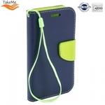 Takeme Fancy Diary Book Case ar stendu Huawei Mate 20 Pro sāniski atverams Zils/Salātkrāsas