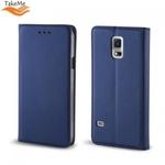 Takeme Magnēstikas Fiksācijas Sāniski atverams maks bez klipša Samsung Galaxy A9 2018 (A920) / Galaxy A9 Star Pro / Galaxy A9s Tumši Zils