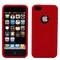 Apple iPhone 5 Red Silicone Case Cover Bumper Swirl maks