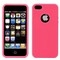 Apple iPhone 5 Hot Pink Silicone Case Cover Bumper Swirl maks